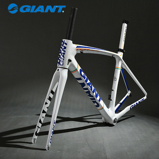 Cheap GIANT High Quality TCR Composite Carbon Frame Set 700C Road carretera Bike Frame Size S 465mm Blue White
