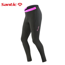 Santic Women Mtb Pants Breathable Bicycle Cycling Pants Keep Warm Winter Thermal Fleece Windproof Padded Bike Reflective Pants santic autumn winter cycling pants windproof warm mtb bike pants 4d padded bicycle long pants tights for men s 3xl cuissard velo
