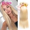 #613 Прямой Человеческих Волос Блондинка Пучки 7А Перуанский Девы Волос 3 Связки Русый Волос Перуанский Прямо Девы Волос Bundle предложения