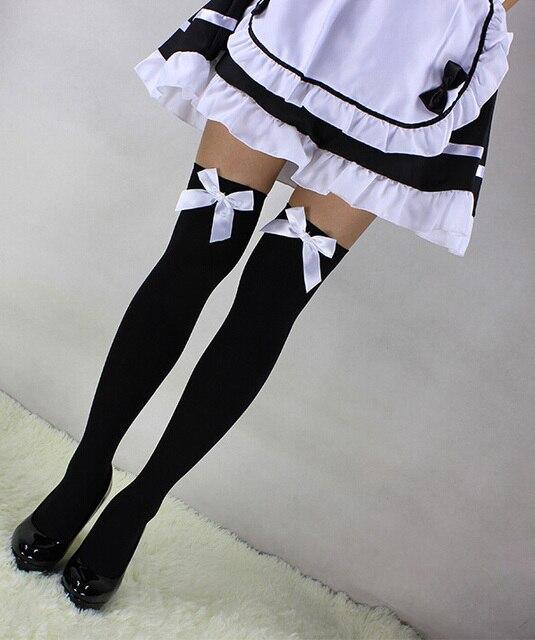 Sexy Gothic Lolita joelho coxa alta meias Cosplay