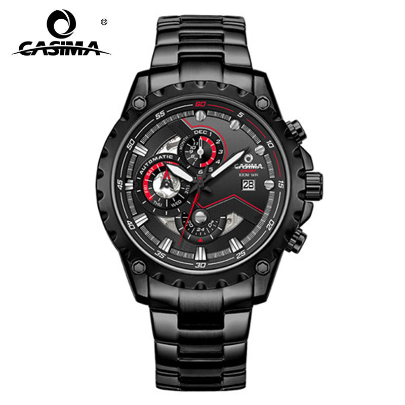 CASIMA New Luxury Men Automatic Mechanical Watches Stainless Steel Quartz Business Wristwatches Chronograph Waterproof Watch цена 2017