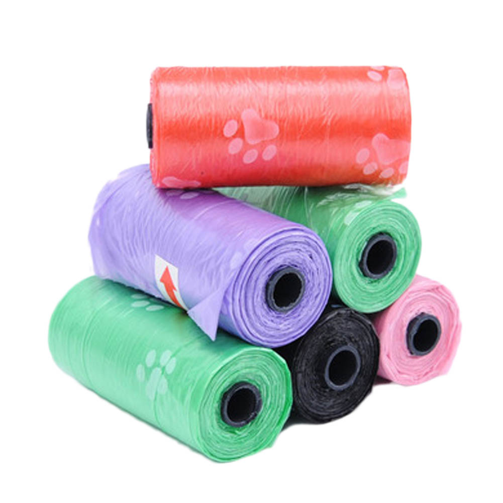 Color Random!!! 1 Roll New Dog Waste Poop Bags Pick Up Clean Car Travel Cleaning Bags Products For Pet Bag Cat