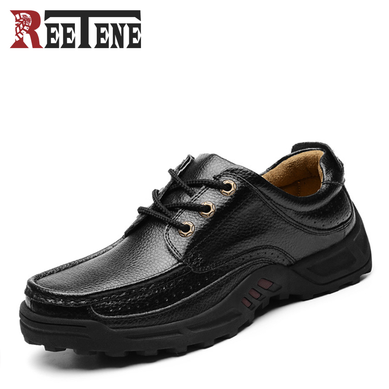 Genuine Leather High Quality Cowhide Business Men Shoes Pigskin Lining Breathable Lace-Up Casual Man Shoes Moccasins Flats 38-48 top brand high quality genuine leather casual men shoes cow suede comfortable loafers soft breathable shoes men flats warm