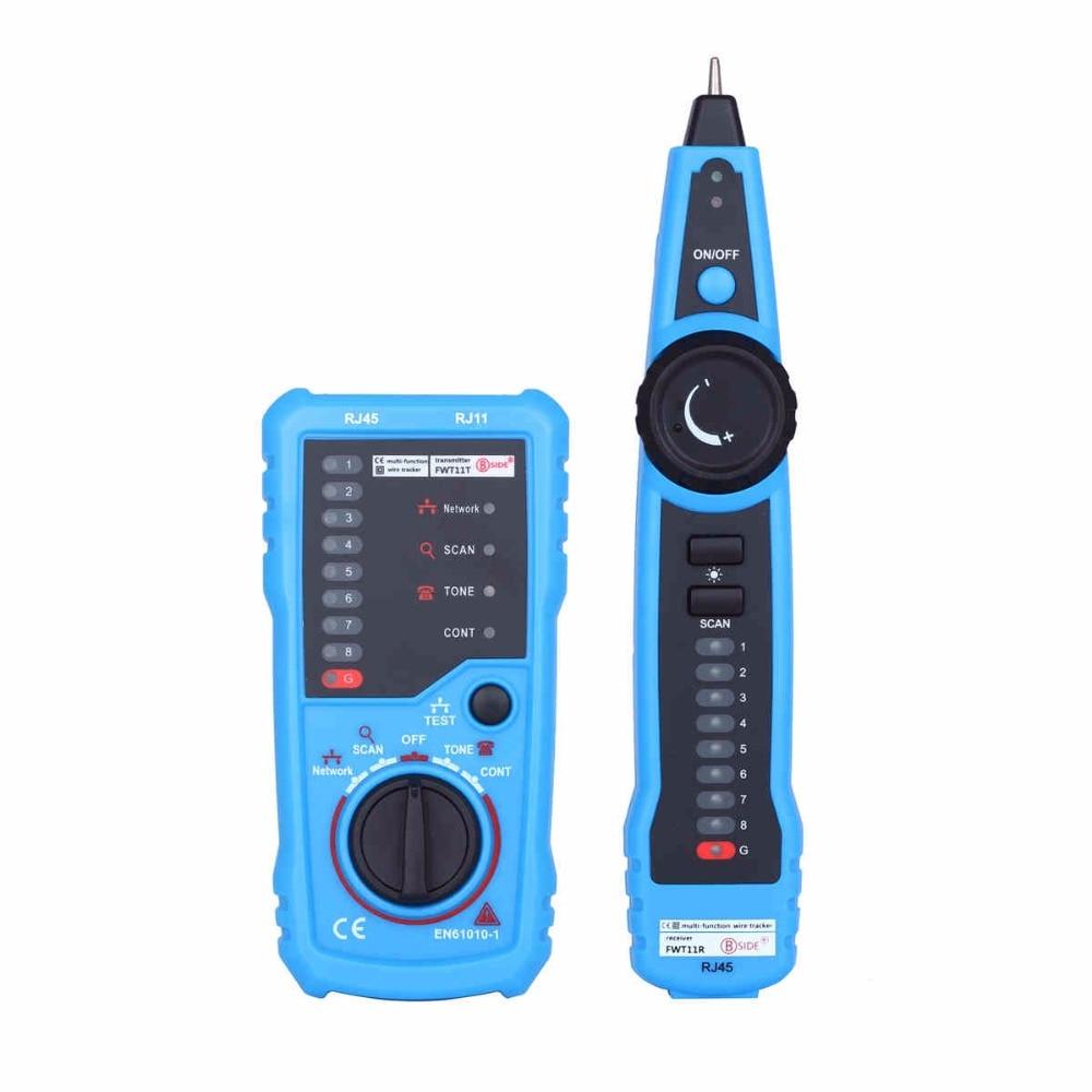 Bside FWT11 Line Finder Tester RJ11 RJ45 Telephone Wire Tracker Tracer LAN Network Cable Tester Detector Line Finder