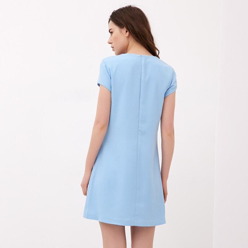4575a8c201 JYL FASHION 2014 New Summer Simple is beautiful Sky blue draped tailor  geometric shape mini dress woman with short sleeves on Aliexpress.com