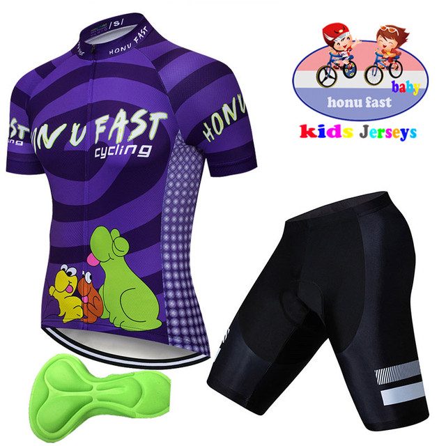 2019 Cartoon Cycling Jersey Children Bike Clothing Bicycle Clothes Kids  Cycling Sets Boy Summer Quick Dry jersey ciclismo ropa 6d1a287b6