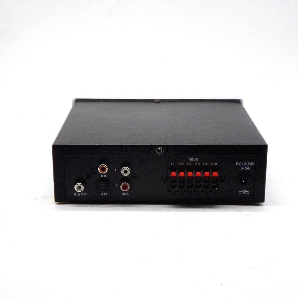 5,1 amplificador Digital con sistema de sonido Home Theater de 6 canales con fibra Coaxial DTS AC3 decodificación de Audio música sin pérdidas - 4