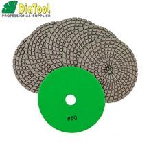 DIATOOL 6 pks 5 #8222 Biały Spoiwo Żywiczne Materiały Ścierne Diamentowe Na Mokro Polerowania Naczyń do Marmuru i Granitu tanie tanio 125mm A6020503x6 SHDIATOOL DIAMOND Tiling 5 X3mm