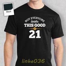 21st Birthday Gift Present Idea For Boys Dad Him Men T Shirt 21 Tee Shirts Mens Tops Cool O Neck Top