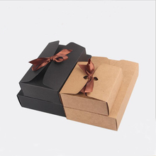10pcs Black Kraft Cake Packing Box Carton White Craft Candy Paper for Packaging Wedding Favor Cardboard Gift Boxes