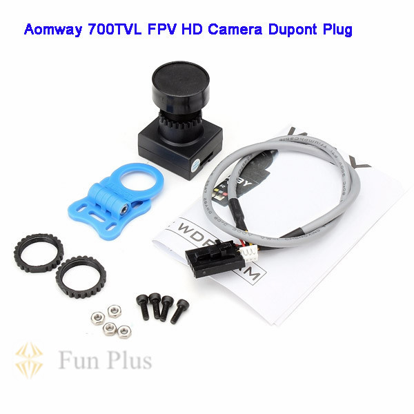 Aomway 700TVL HD 1/3'' CMOS FPV Mini Camera 170 Degree Wide Angle Lens Module Dupont Plug PAL/NTSC Format fpv aomway 700tvl 700line wdr cmos hd camera pal for fpv quadcopter multicopter promotion 2 1 lens mini jst 5p plug