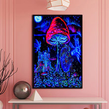 Mushroom - Psychedelic Trippy Art Silk Fabric Poster Print Painting Abstract Wall Picture Living Room Decor(China)