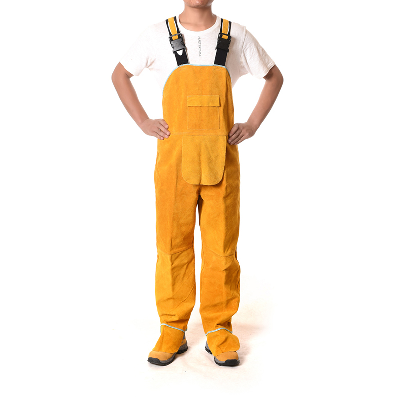 Cowhide Electric Welding Work Clothes Special Protective Clothing Anti Scalding Leather Safety Protective Clothing For Work Wea Security & Protection Safety Clothing