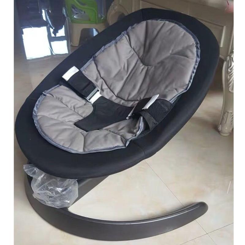 Berceau bébé chaise berçante en alliage d'aluminium base ours 60 KG chaise longue chaise berceau pour nouveau-né - 2