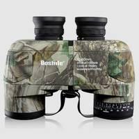 Boshile 10X50 Binoculars Professional Military Marine Waterproof Telescope HD BAK4 Rangefinder Distance Hunting Navigation Color