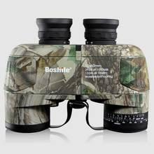 Boshile 10X50 binoculars professional Military Marine waterproof Telescope HD BAK4 Rangefinder Distance hunting Navigation color цены