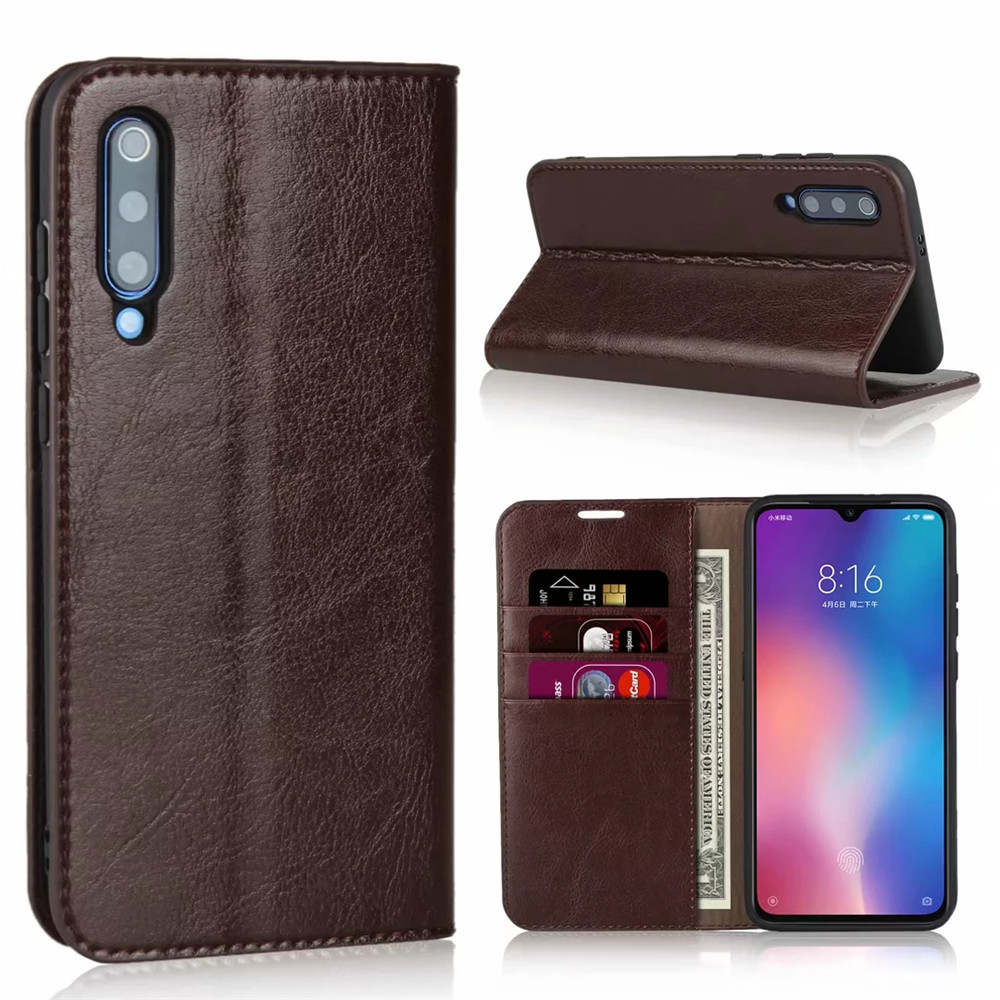For Xiaomi Mi 9 Case Genuine Leather Wallet Case Card Stand Flip Cases For Xiaomi Mi 9 SE Phone Bag Cover Coque Fundas