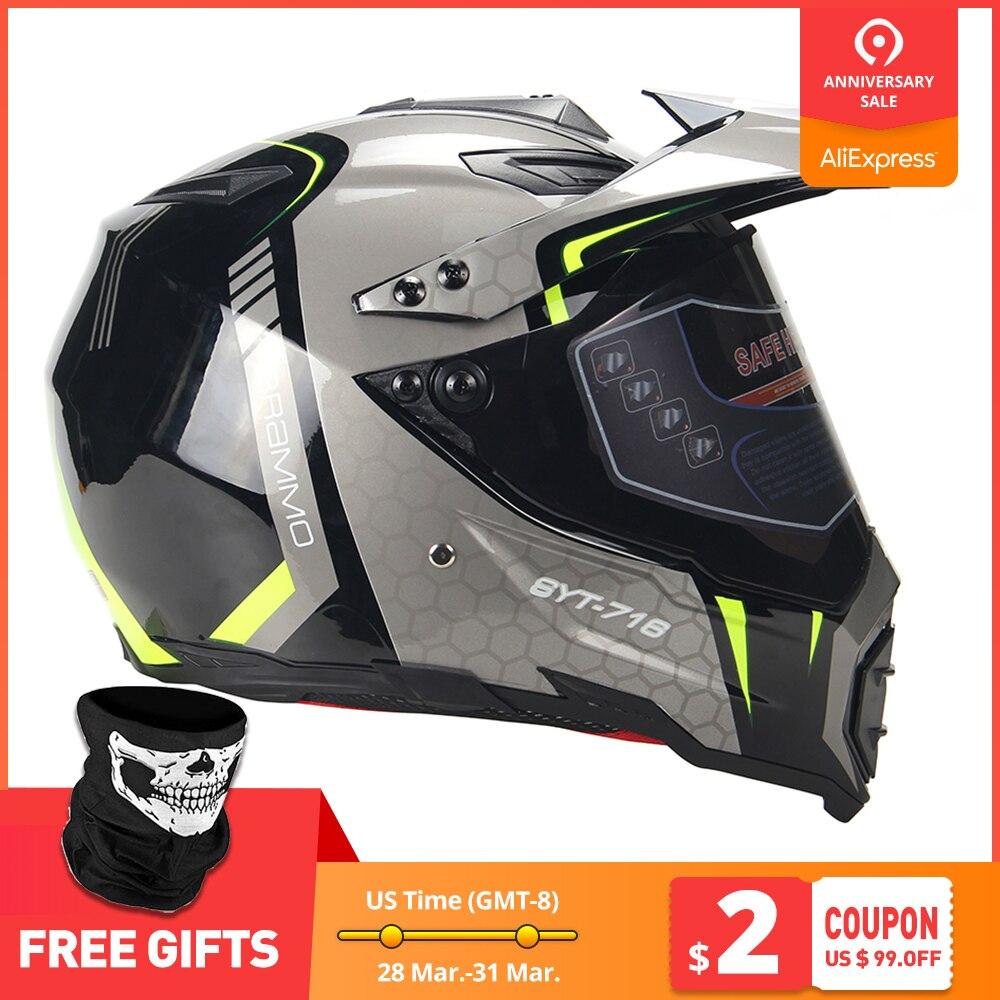 BYE Nouvelle Moto Casque Hommes casque intégral Moto Équitation ABS Matériel Aventure casque de motocross Moto DOT Certification #