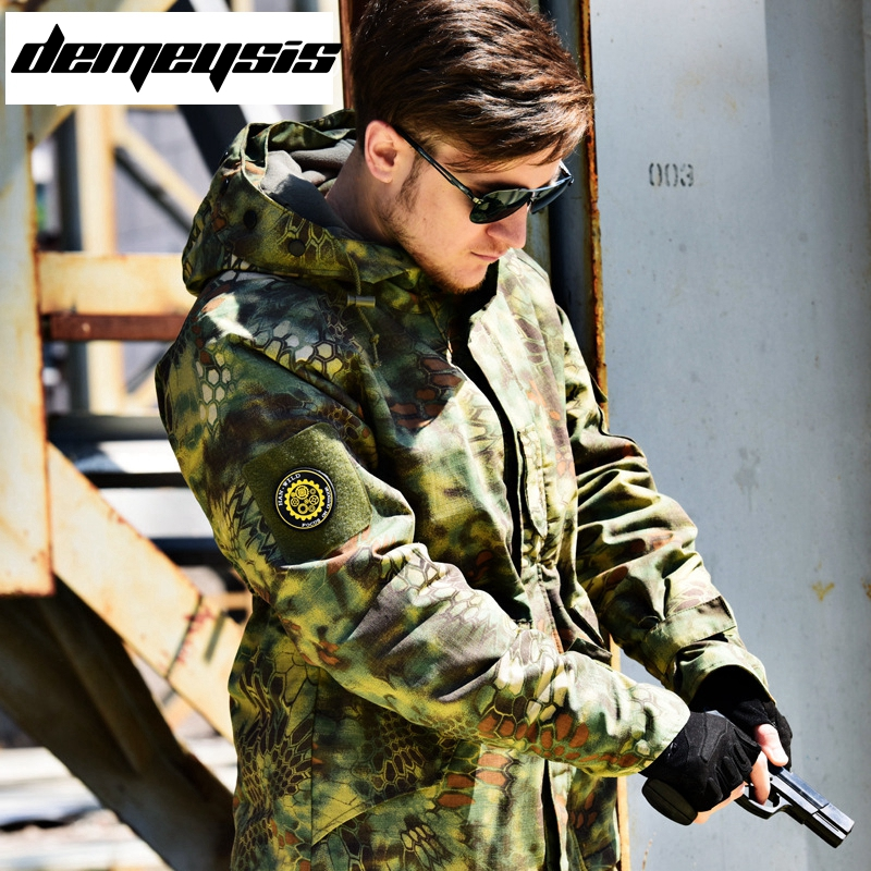 US Army Clothes Tactical Men Jacket Camouflage Male clothing Winter Autumn Waterproof Flight Pilot Coat Hoodie Field Jacket lurker shark skin soft shell v4 military tactical jacket men waterproof windproof warm coat camouflage hooded camo army clothing