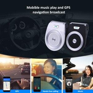 Image 4 - חדש רכב Bluetooth ערכת T821 דיבורית תמיכת רמקול Bluetooth 4.1 EDR אלחוטי לרכב מיני Visor יכול ידיים משלוח שיחות