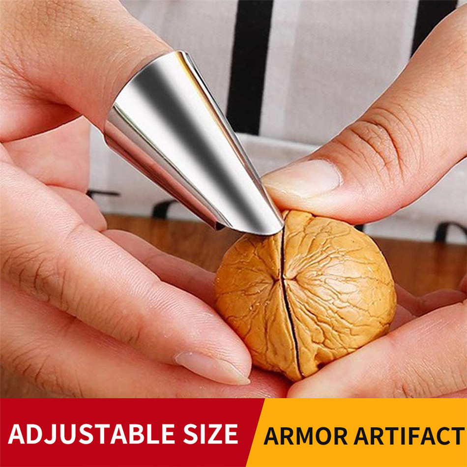 SEAAN Finger Guard Protect Finger Hand Cut Hand Protector Knife Cut Finger Protection Tool Stainless Steel Kitchen Tool Gadget