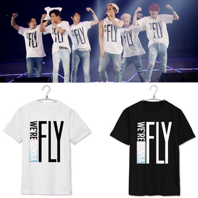 US $9 9 |2016 New Fashion got7 T shirt Unisex Tee Kpop Concert FLY IN SEOUL  Summer Style Jackson Mark short sleeves T shirt tee-in T-Shirts from