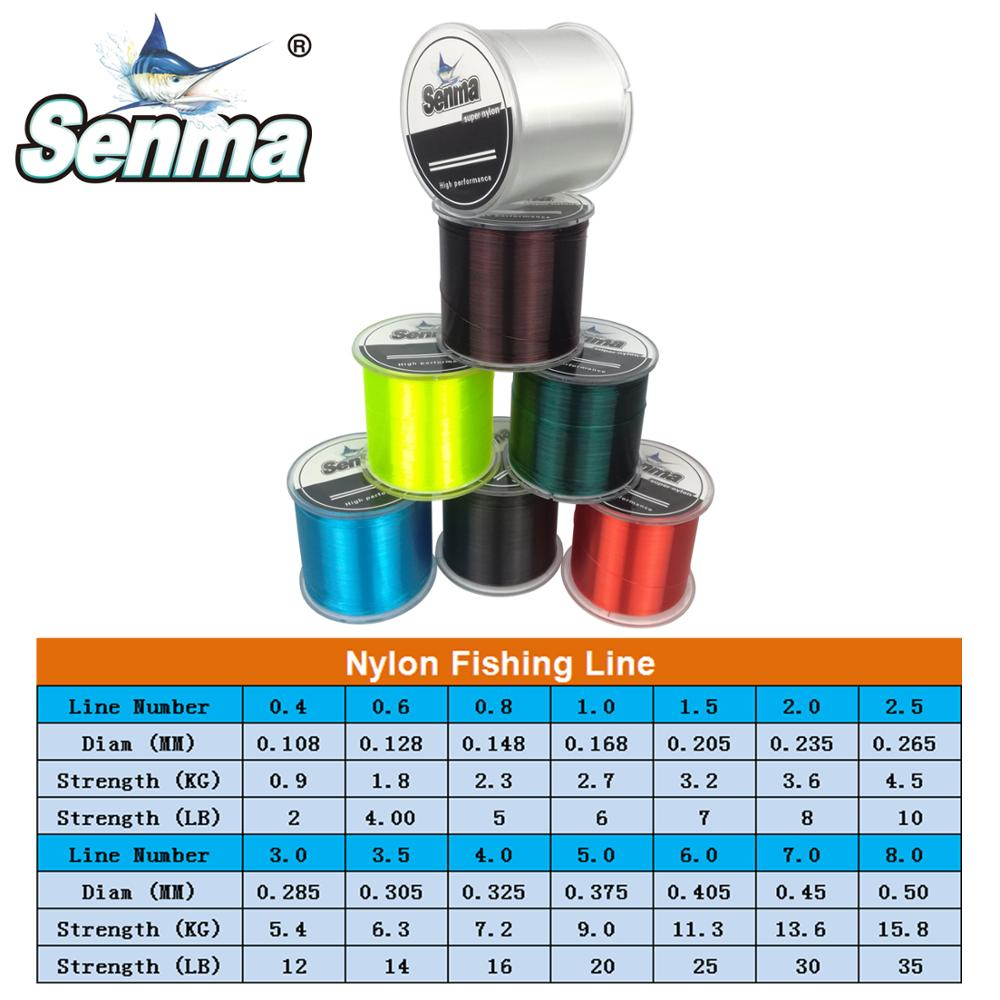 Seaman Nylon Fishing Line 500M 547Yds Lead Line Nylon Line Premium Japanese Bionic Monofilament 2-35LB Test 7 Colors Available