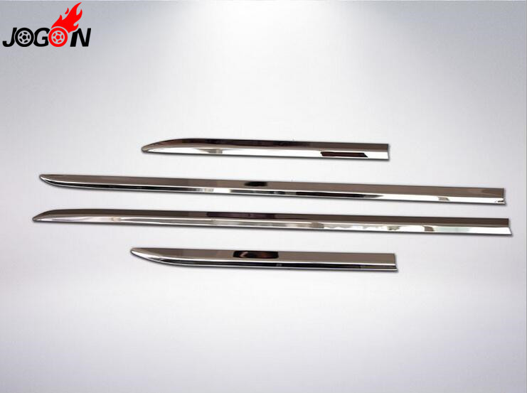 Car Styling 4pcs Stainless Steel Door Body Side Trim Cover Molding For Subaru Forester 2008-2012 Accessories