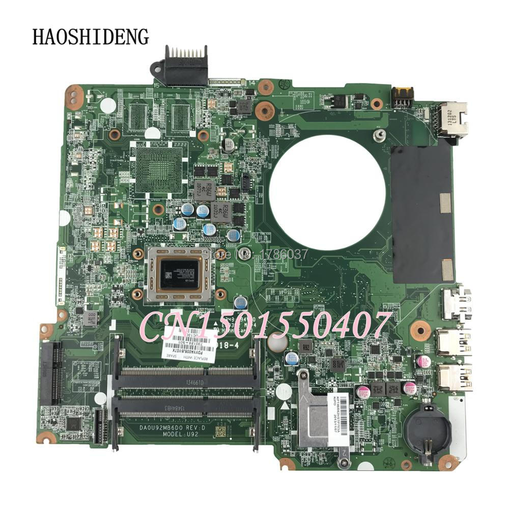 HAOSHIDENG 738124-001 738124-501 U92 mainboard For HP PAVILION 15-N Laptop motherboard DA0U92MB6D0 A10-5745M ytai a10 4655m for hp pavilion 15 15 n laptop motherboard 737138 501 737499 501 a10 4655m cpu da0u92mb6d0 mainboard fully tested