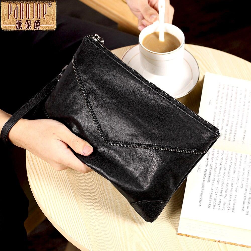 Pabojoe Fashion Clutch Leather Male Wallet Coin Purse Brand Design Long Men Clutch Bag app blog brand cartoon flower fairy women wallet original design long 2018 fashion clutch leather coin purse phone key card bag