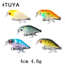 TUYA 5pcs/set Crankbaits Wobblers Minnow Fishing Lure Metallic Ball Sinking trolling Cranks bait Synthetic Arduous Bait Pike Bass
