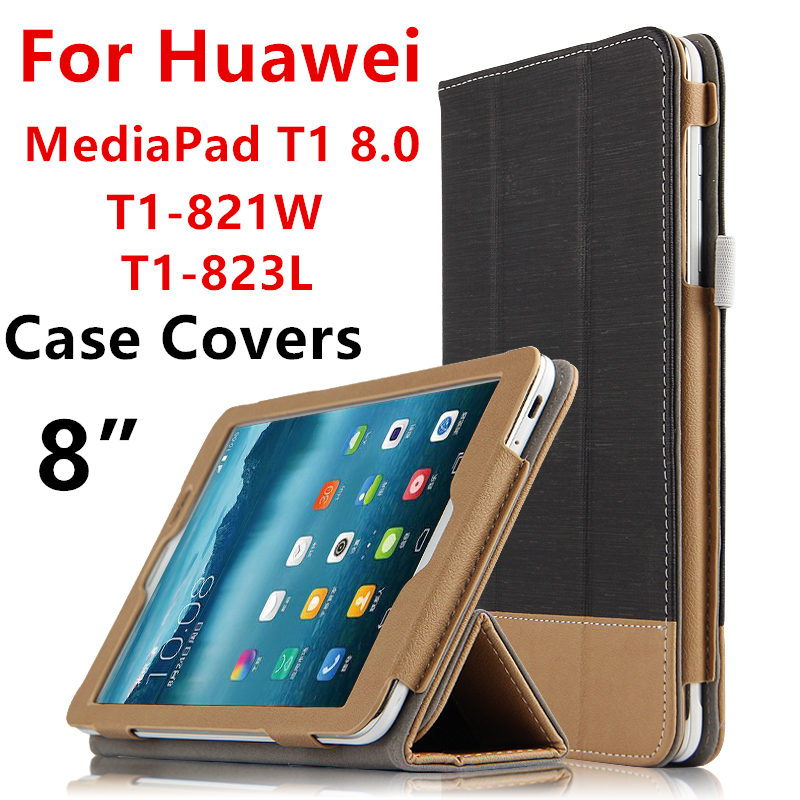 Case For Huawei MediaPad T1 8.0 PU Protective Smart cover S8 Leather Protector Tablet For HUAWEI Honor T1-823L T1-821W S8-701U W ultra thin smart flip pu leather cover for lenovo tab 2 a10 30 70f x30f x30m 10 1 tablet case screen protector stylus pen