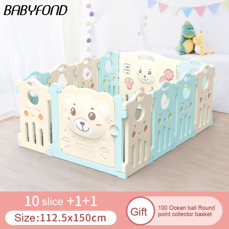 14+2 pcs Baby Playpen Fence Fencing For Children Child Game Crawling Security Toddler Ball Pool Toy playpen halens