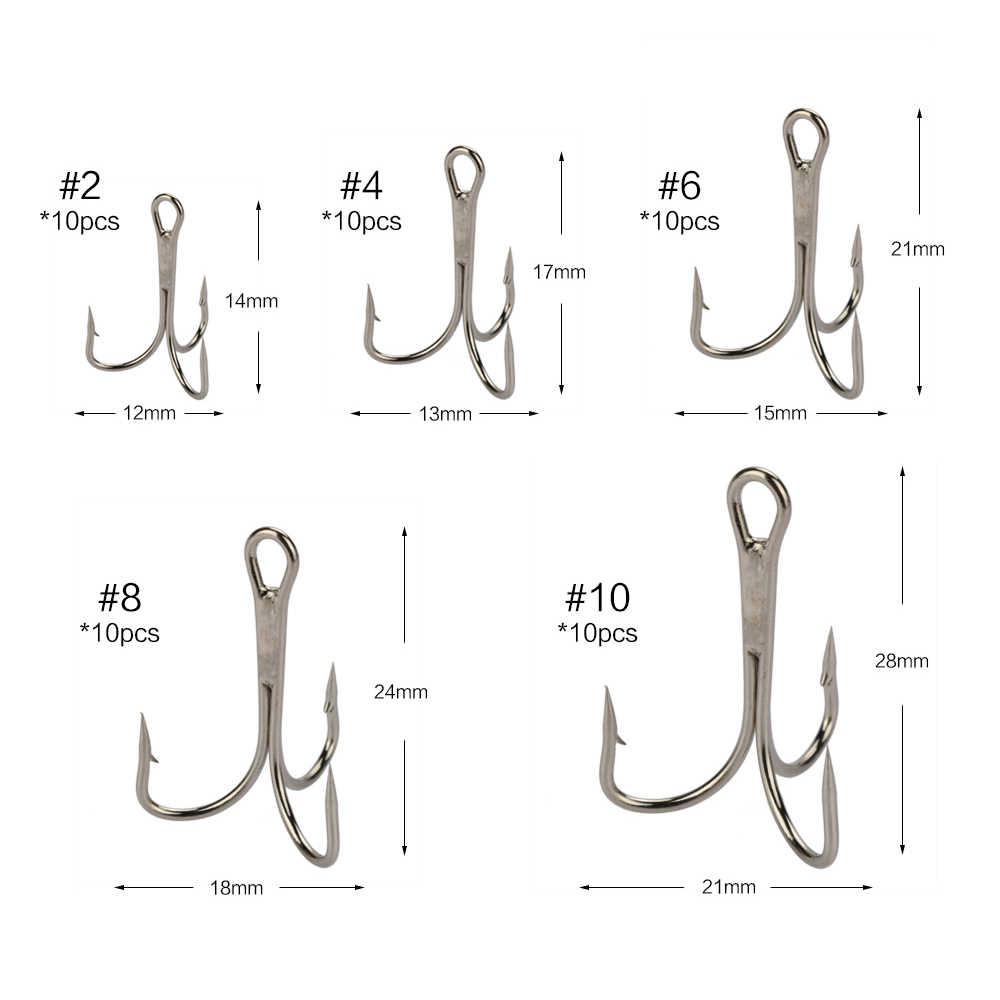 Размеры тройников рыболовных в сантиметрах
