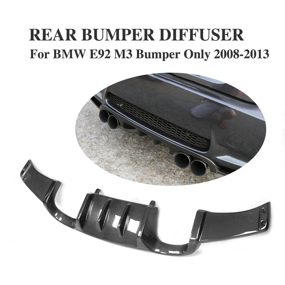 Carbon Fiber Auto car accessories Rear Bumper Lip Diffuser For for BMW E92 M3 2008 - 2013 Convertible Add On Style