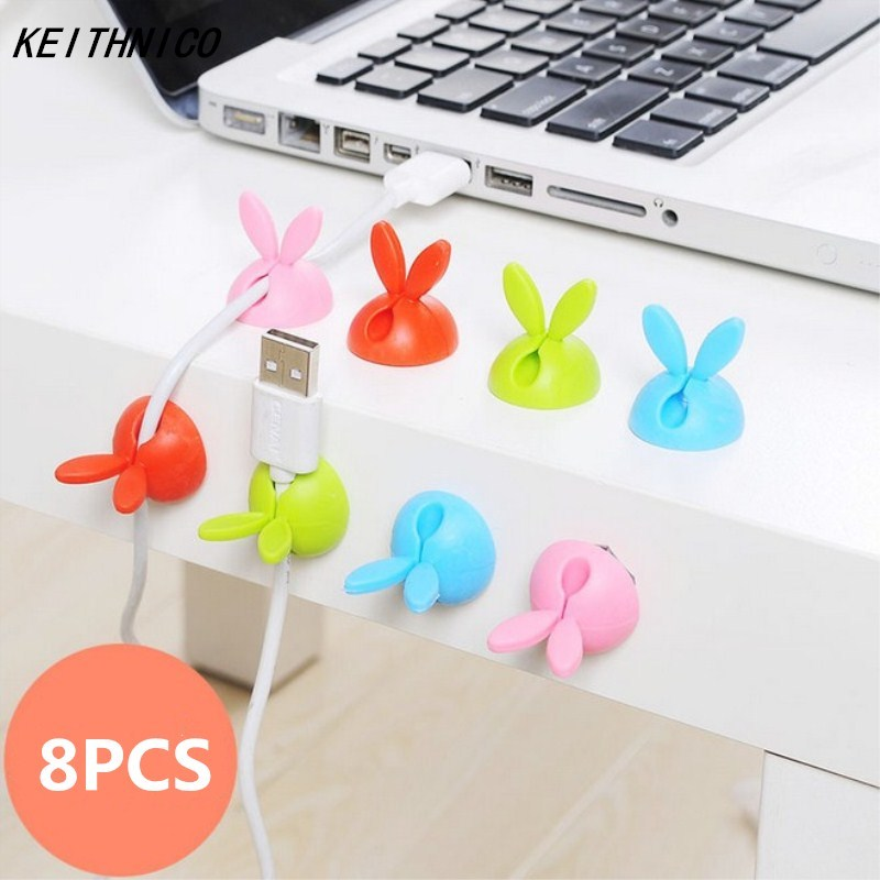 cf22ee7dd43 8 Pcs Lot Mouse Cable Wire Holder For Car home office USB Charger Cord Lead  Cable