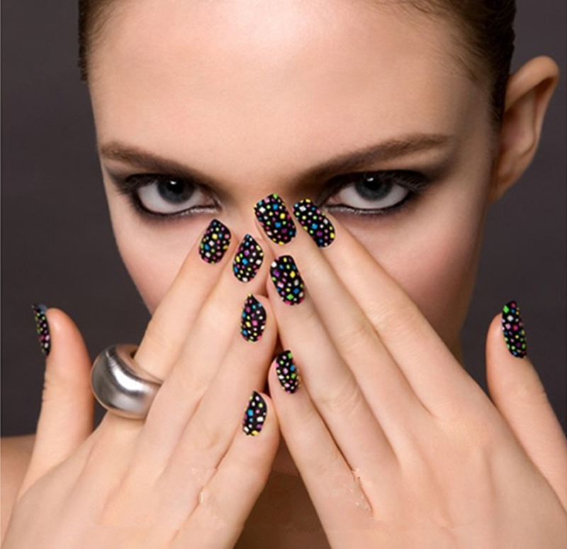 2015 2015 new nail art polish stirp 20 styles adesiv nail sticker full cover nails strips for girl /lady Wholesale Free Shipping-in Stickers & Decals ...