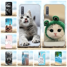 For Samsung Galaxy A7 2018 Cover TPU A750 A750F A750FN Case Cute Patterned Funda