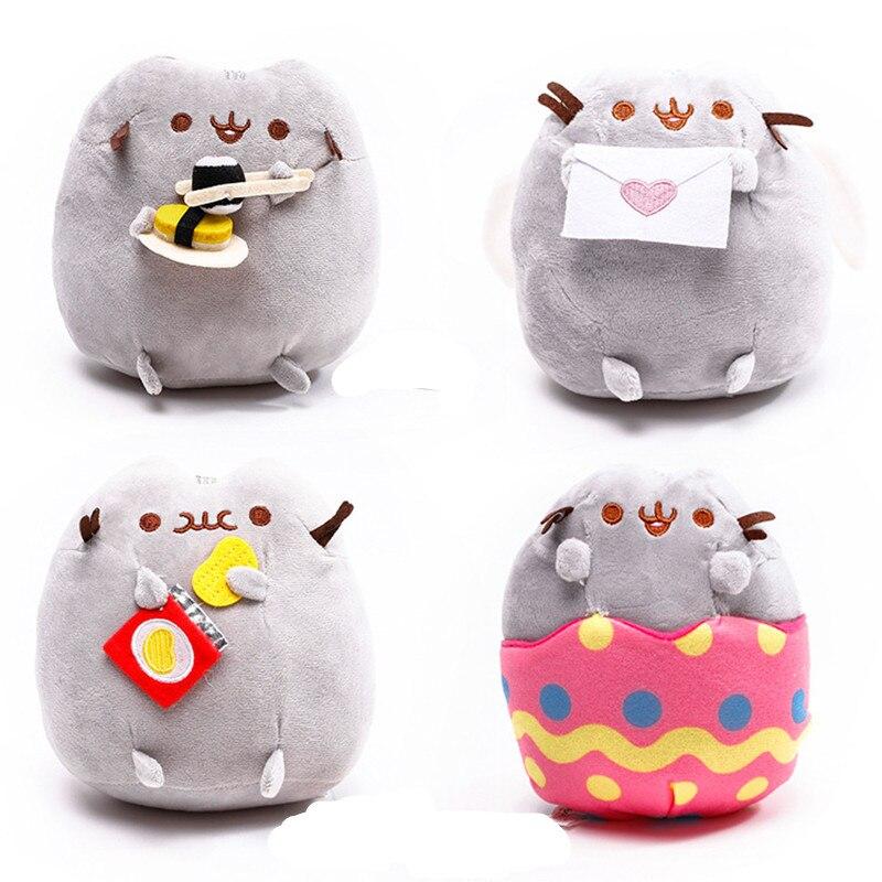 15cm Kawaii Fat Pusheen Cat Cookie & Icecream & Doughnut & Cake Stuffed Plush Animals Toys for Kids Baby Girls Christmas Gift