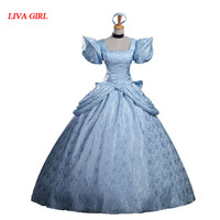 2017 Fashion Womens Ladies Cinderella Princess Costume Adult Cinderella Costume Fairy Tale Cosplay For Women Hallowmas