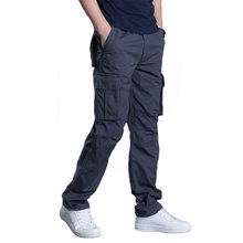 GEJIAN Men Military Tactical Pants Fashion Multi Pocket Cotton Overalls Color Casual Cargo Pants Plus Size Pantalones Hombre(China)