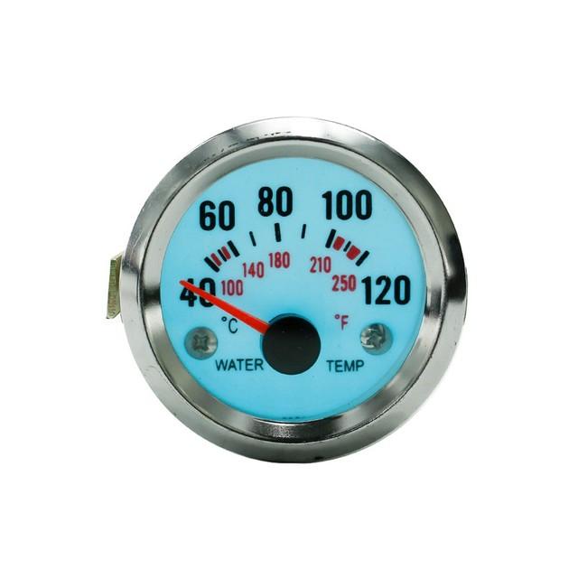 Frete grátis 52mm Elétrica Luminescente Água temp Medidor de Temperatura 250F/120C com step-down transformer car medidor medidor de auto