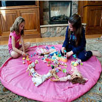 Hot Portable étanche enfants enfants infantile bébé jouer tapis grands sacs de rangement jouet organisateur couverture tapis boîtes en plein air Pad jouets