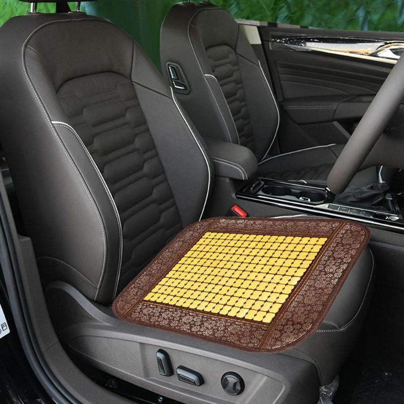 Summer Car Seat Cover Breathable Cool Bamboo Seat Cushion Universal Auto Home Chair Pad Auto accessories Universal Drop shipping(China)