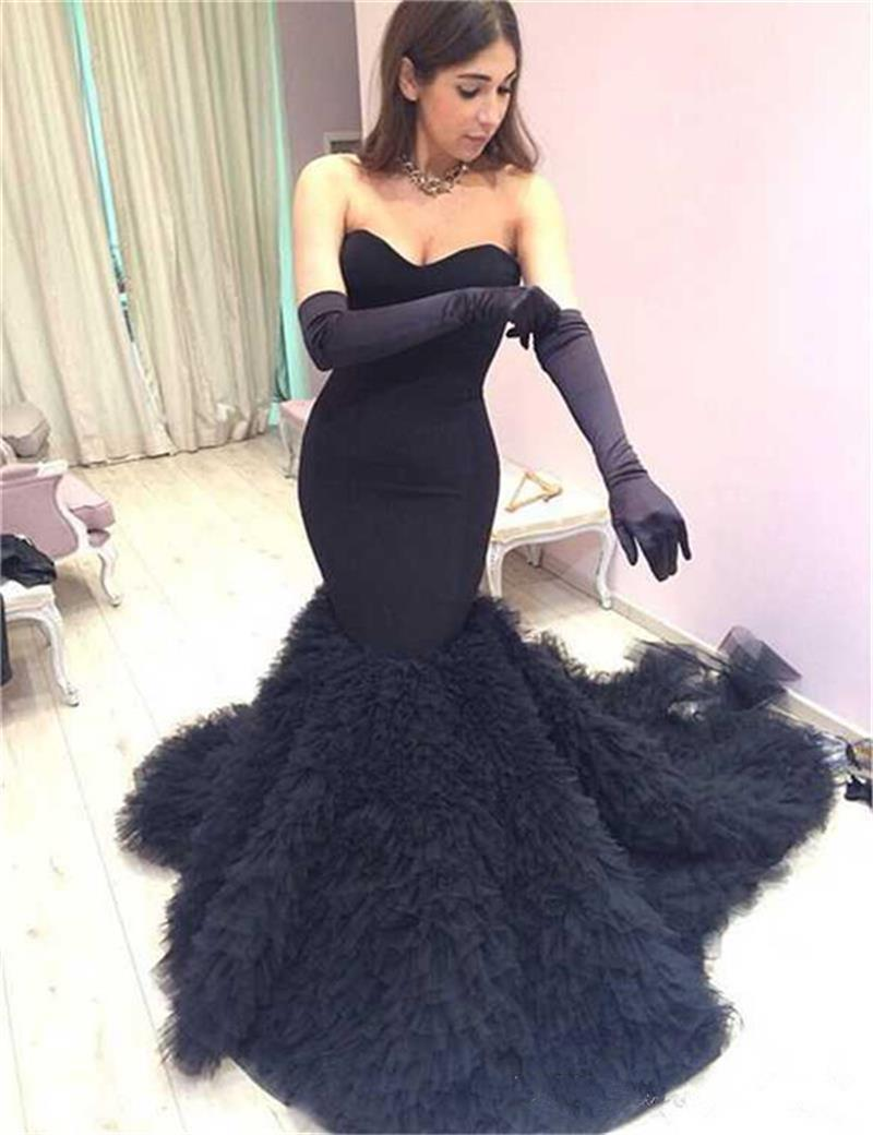 Black gloves for gown - Evening Dress Gloves 2017