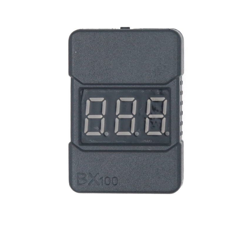 High accuracy 0.01v  2 in1 RC Lipo Battery Led Low Voltage Meter Tester BX100  1S-8S Buzzer Alarm  24% off rc model 2s 3s 4s detect lipo battery low voltage alarm buzzer