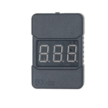 High accuracy 0.01v  2 in1 RC Lipo Battery Led Low Voltage Meter Tester BX100  1S-8S Buzzer Alarm 25% off