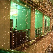 цена 3x1/3x3m 300 LED Icicle fairy String Lights Christmas led Wedding Party Fairy Lights garland Outdoor Curtain Garden Decor в интернет-магазинах