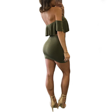Army Green Sexy Party Dresses