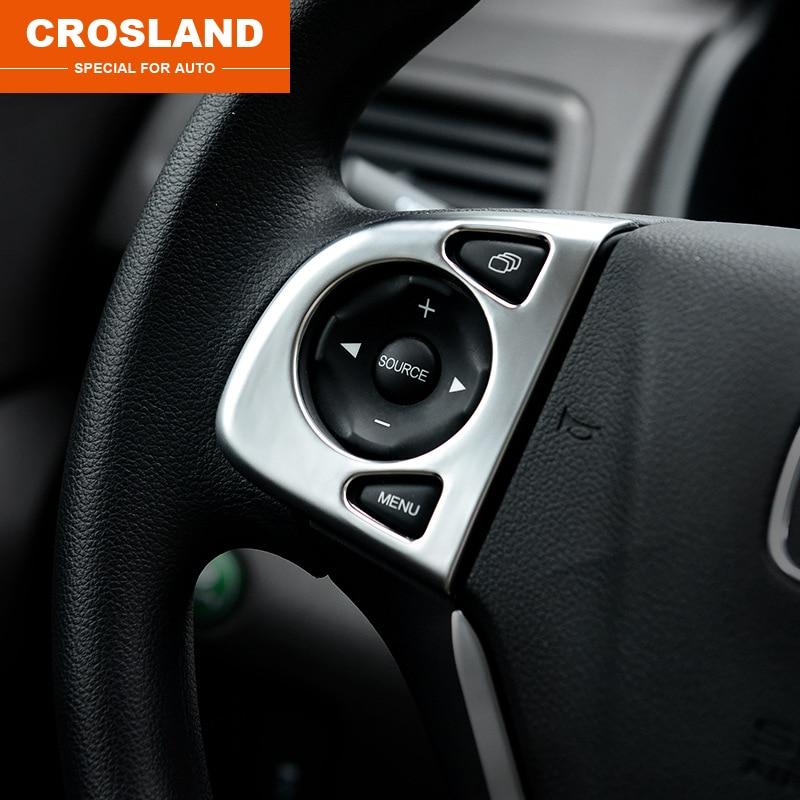 ABS For Honda 2013 CRV 2012 2017 steering wheel sequins plating modification sticker